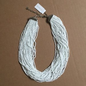 NWT Talbots White Seed Beads Necklace